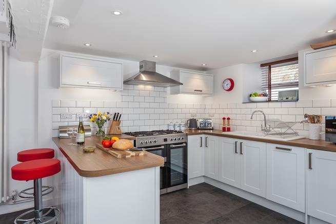 The lovely, modern kitchen area.