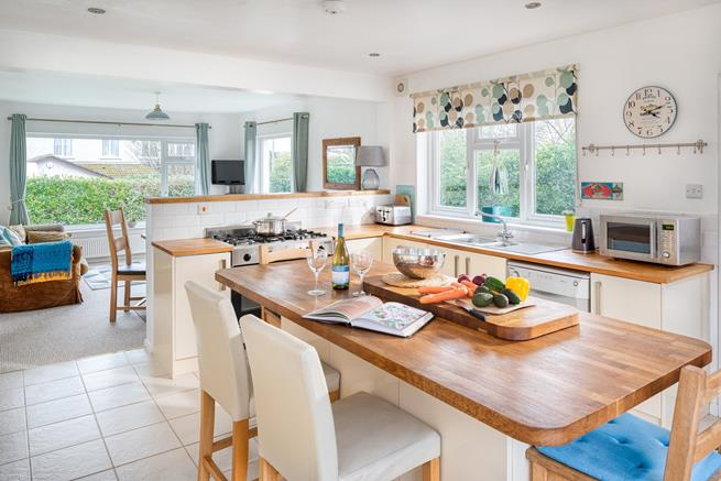The open plan kitchen and dining area is a great sociable space for planning the next days activities.