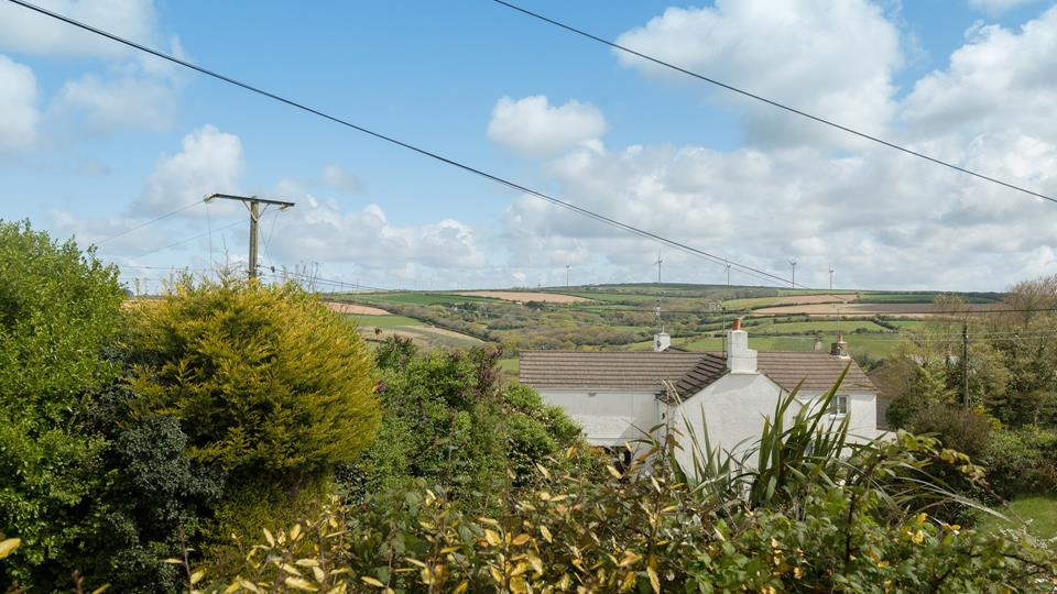 The property overlooks some of the beautiful Cornish countryside.