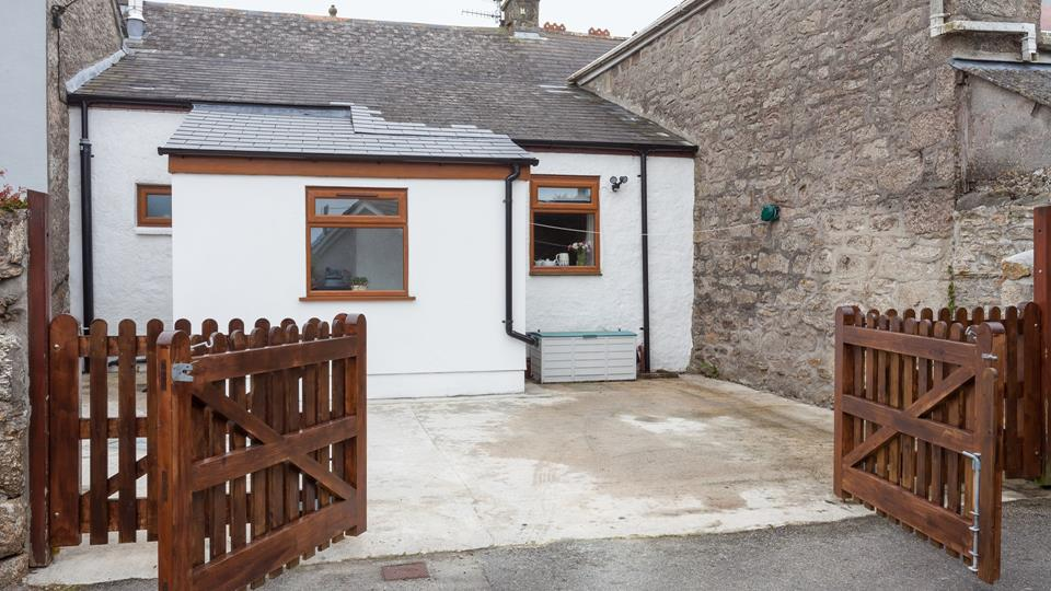 Private parking at the rear of Chy Lowen with access into the rear porch.