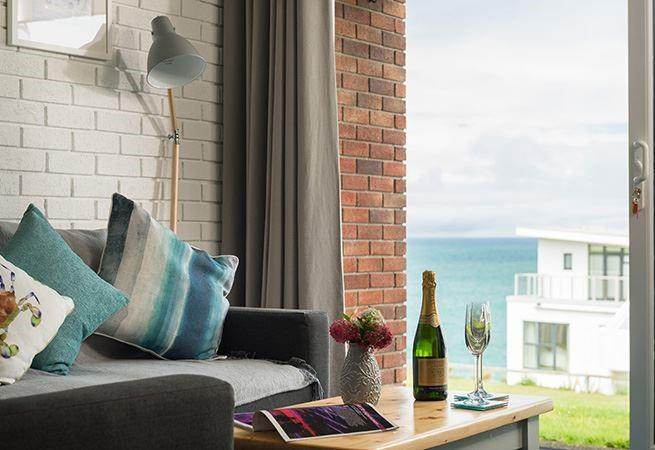Lovely views form the living area towards Fistral beach.