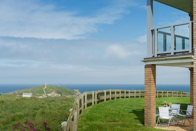 A great location surrounded by headland and the sea.
