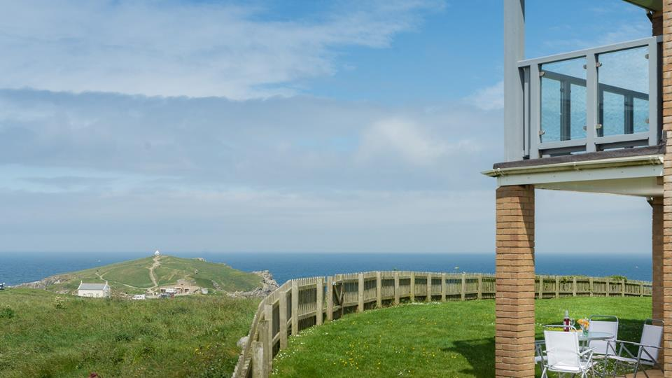 A superb location surrounded by rugged headland and the Atlantic Ocean.