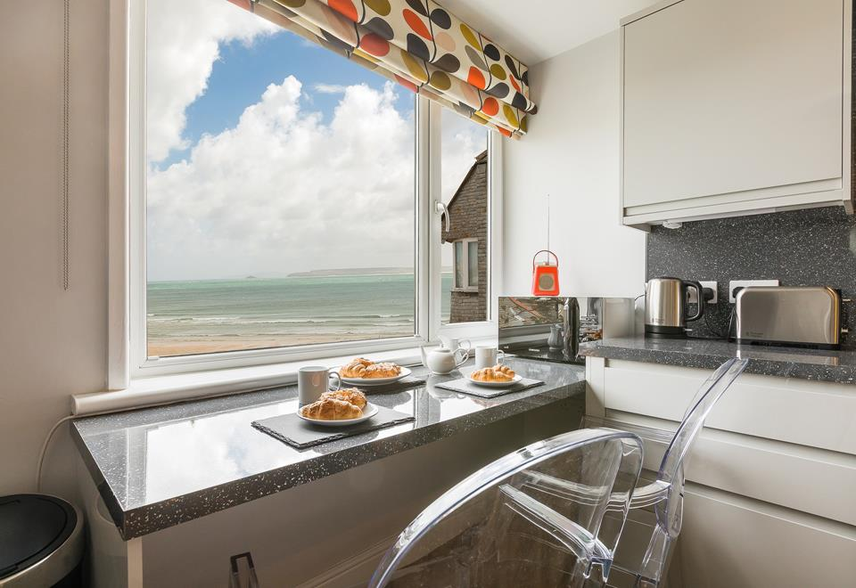 Breakfast bar with a view.