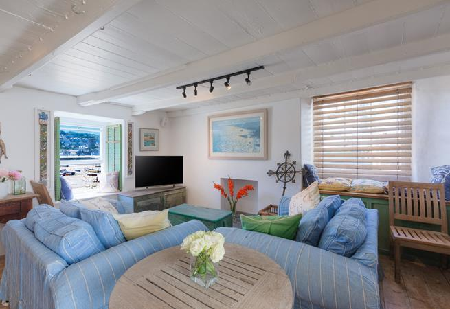 Wonderful sea views from the sitting room.