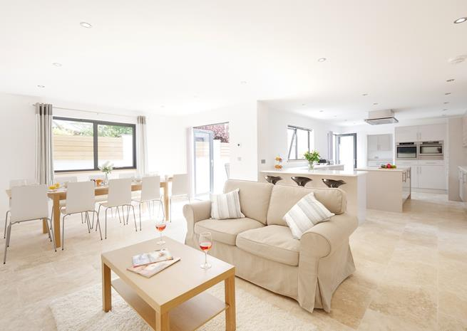 Open plan Family, Dining area and Kitchen