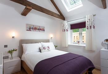 Drift off to sleep in this comfy double bed in a peaceful setting.