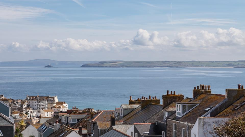 Fabulous view across St Ives and far along the beautiful coastline.