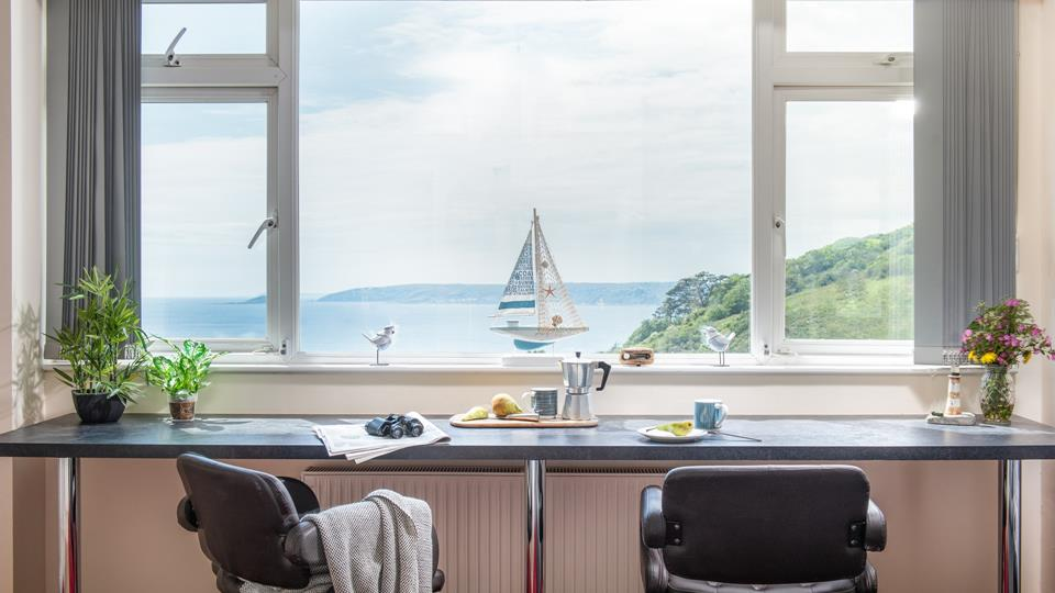 Enjoy a leisurely breakfast with a gorgeous sea view.