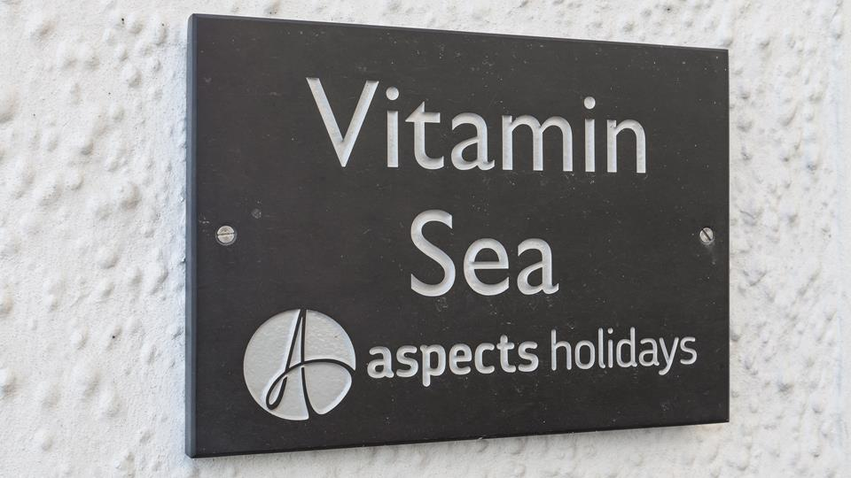 Classic slate signage helps make the property easy to find.