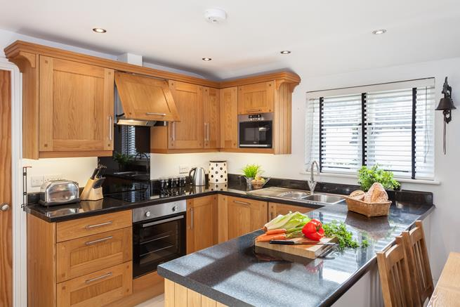 The kitchen is brilliantly equipped for those that wish to take a break from dining out