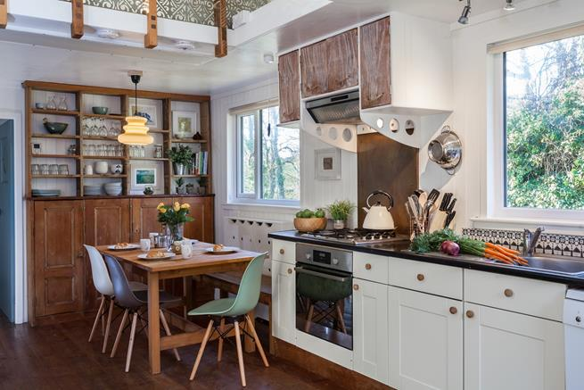 Enjoy family meals together in the open plan dining area.