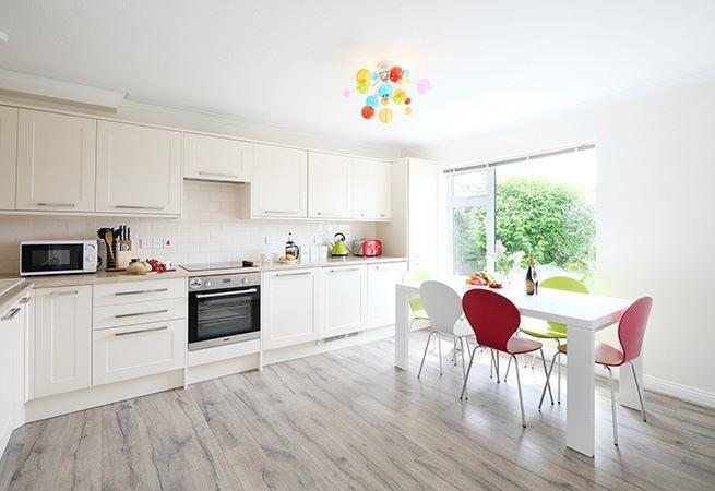 The well proportioned kitchen/dining room, ideal for family meals together.
