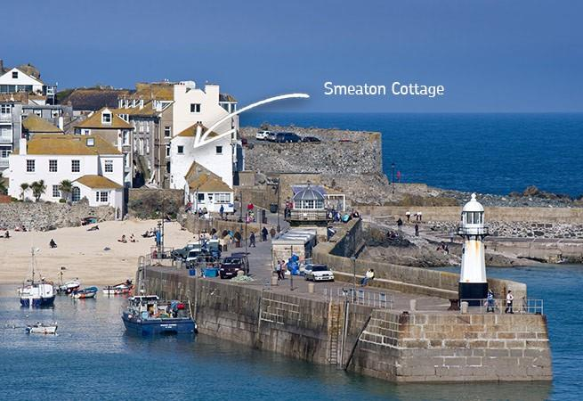 Smeaton Cottage is in a very sought after location at the end of Smeaton's Pier.