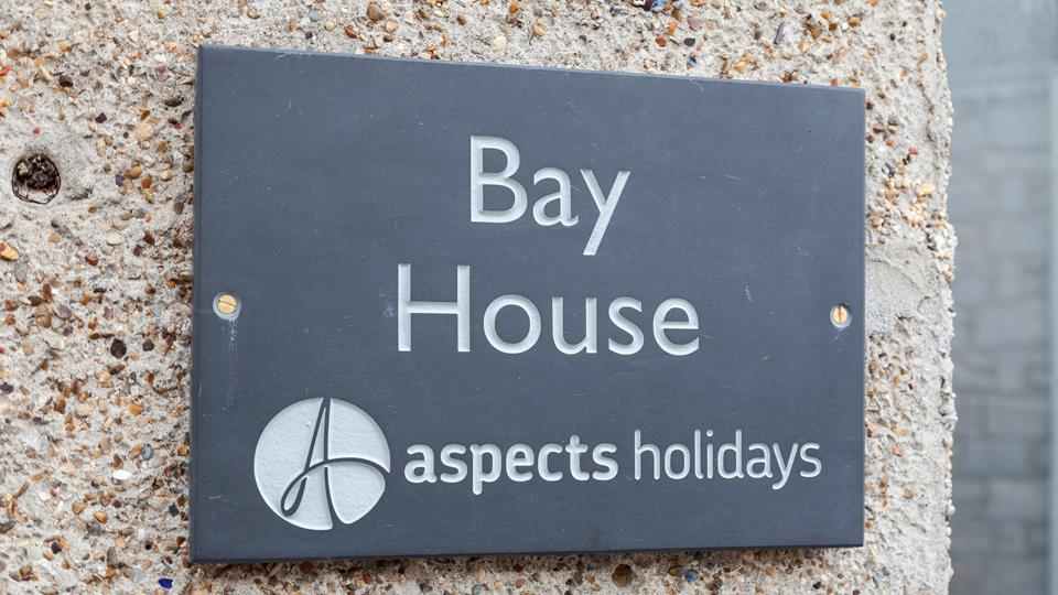 Bay House sign is presented in traditional local slate and looks really smart at the entrance.