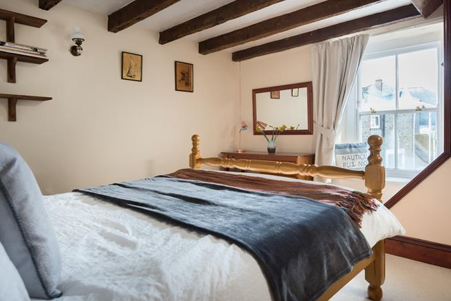 Master bedroom leading to twin room.