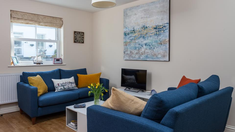 The sofa's create a social space for the family.