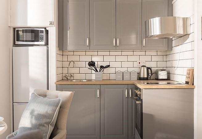 A newly fitted kitchen for enjoying a meal in