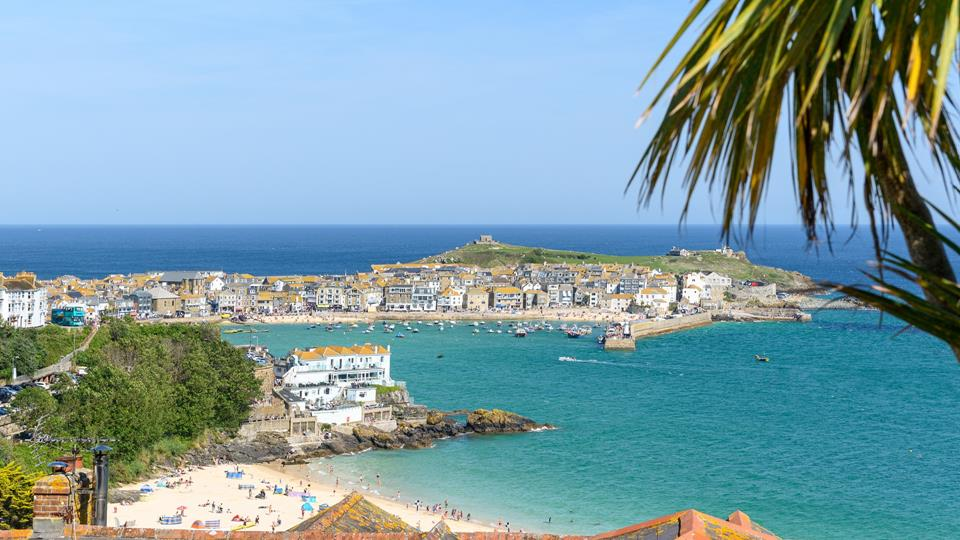 The view across St Ives Harbour, town and beach is totally breath taking.