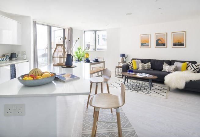 Open plan living space is perfect for socialising.