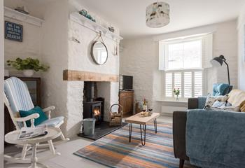 On The Rocks, Sleeps 5 + cot, Mevagissey.