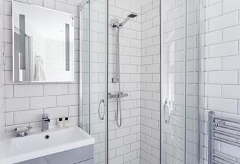 En suite shower room to twin bedroom.