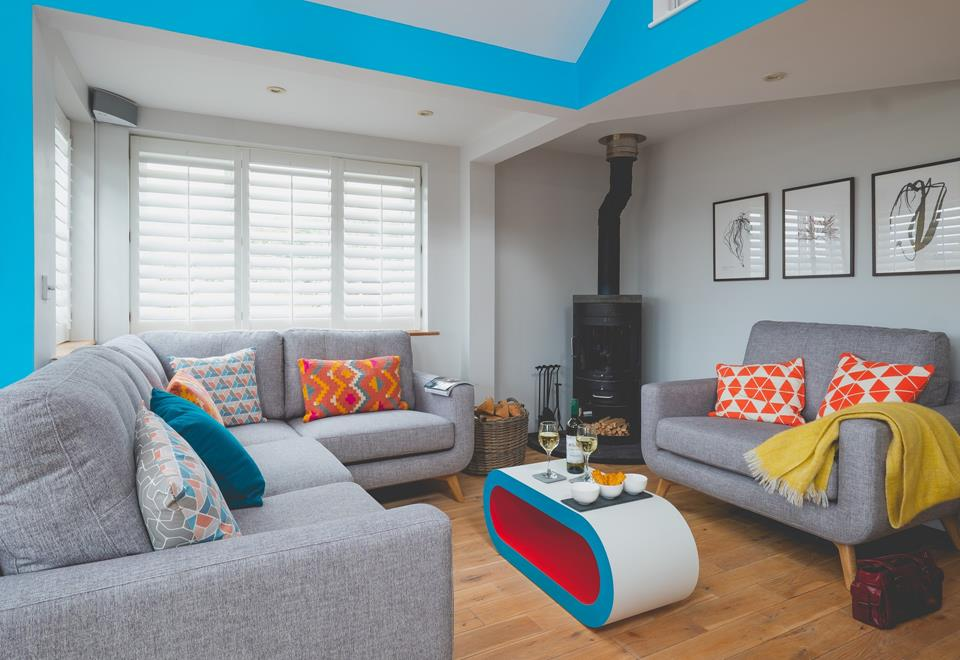 Funky contemporary sitting room.
