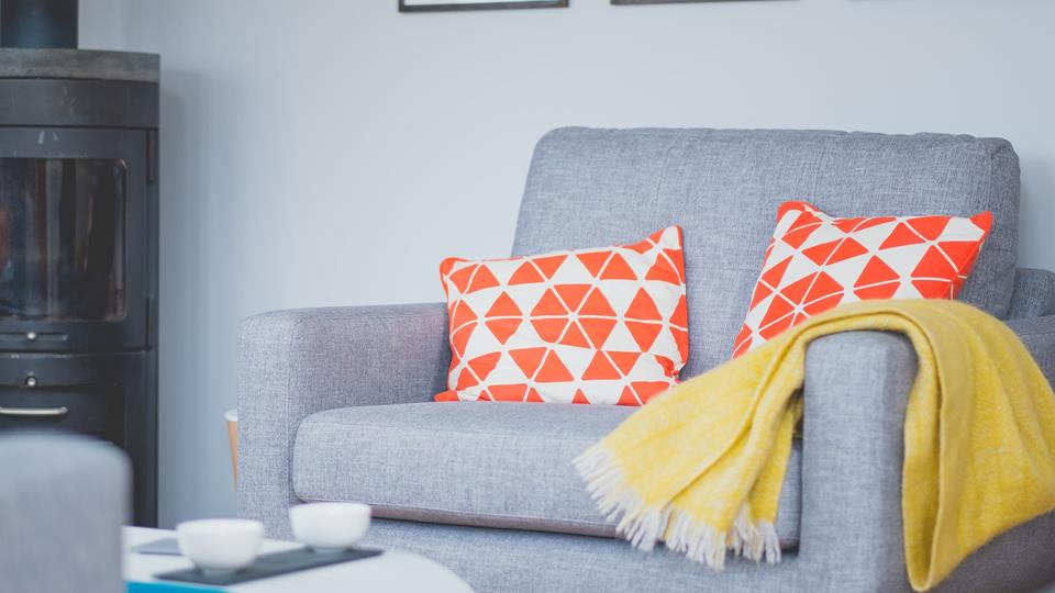 Vibrant colours add a fun and beachy feel to the rooms, reminding you how close to the seaside you are!