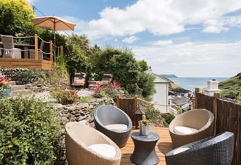 Rose Cottage, Sleeps 6 + cot, Portloe.