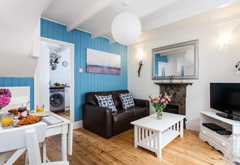 This property was built for two and has a lovely open plan sitting/dining room.