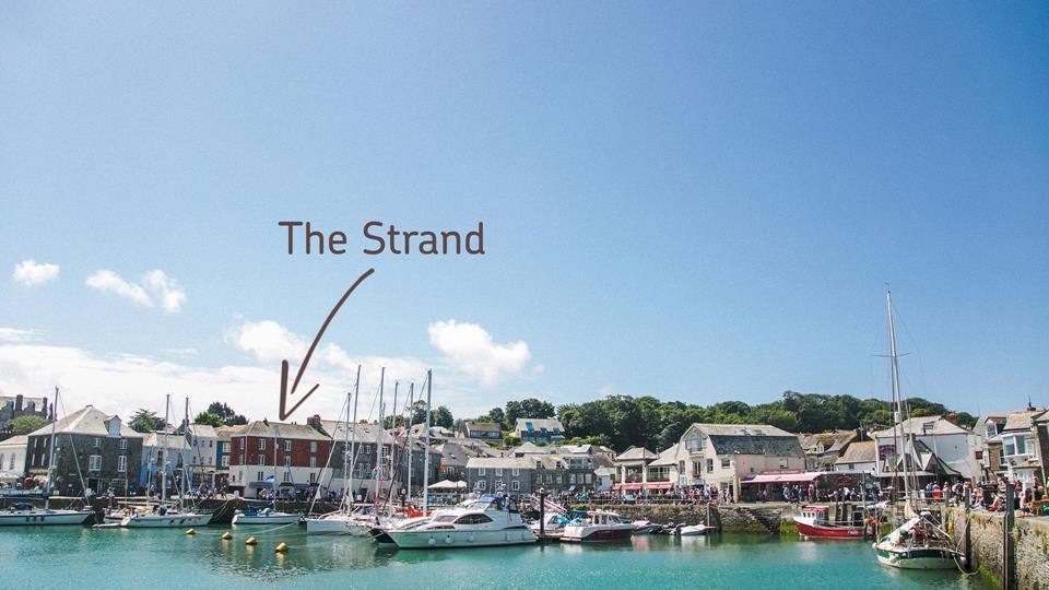 The apartment is situated in a Grade II listed building, perched on the edge of the harbour.