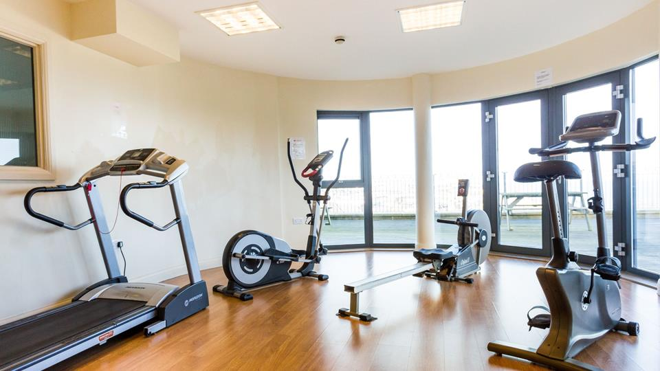 The communal gym is on the lower ground floor.