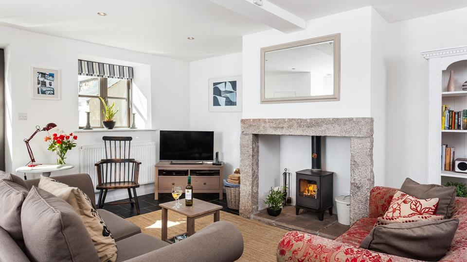 Enjoy a cosy evening in front of the woodburner.
