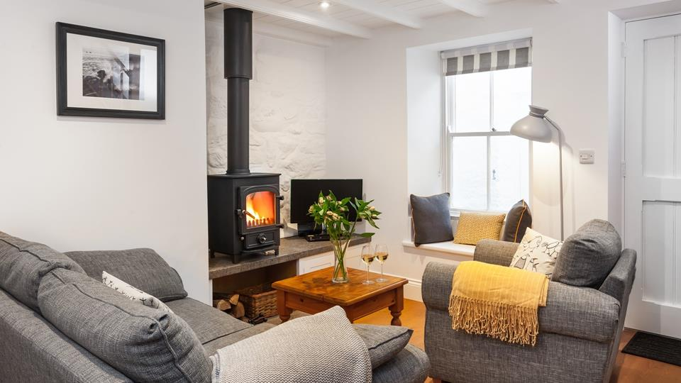Warm your toes in front of the woodburner, whilst snuggling up with your favourite book.