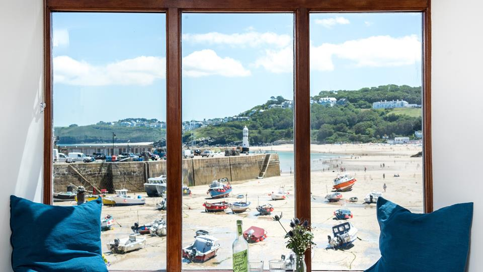 We could spend all day gazing at this idyllic view, which is a great spot to enjoy your morning cuppa whilst watching the ebb and flow of the tide.