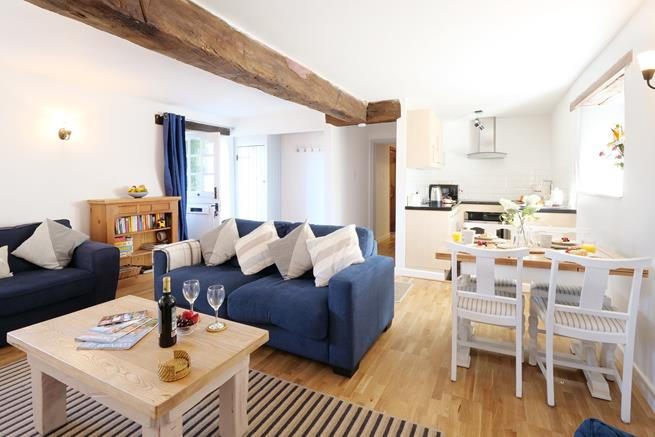 Granary Cottage has a lovely open plan living space, perfect for socialising with family or friends.