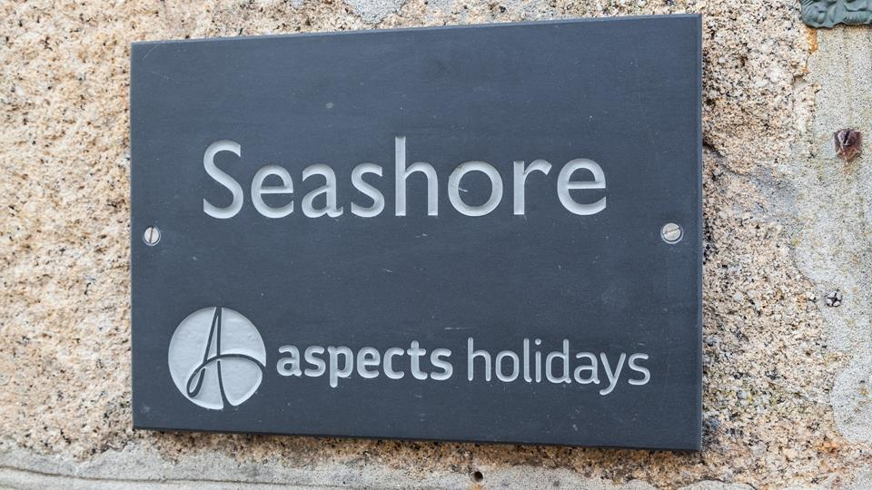 Clear slate signage helps make the property easy to spot.