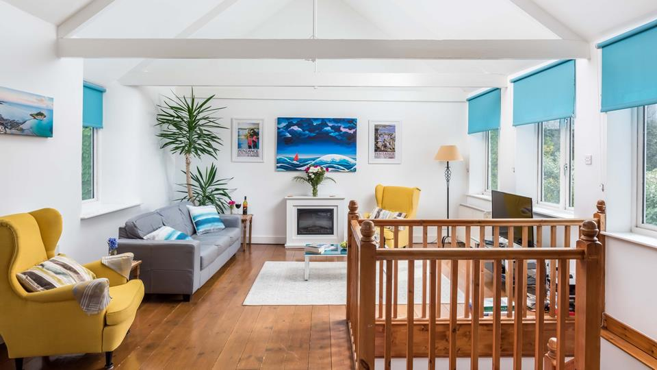 The cool, coastal sitting room.