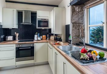 Cook up a fishy supper at your self-catering apartment.