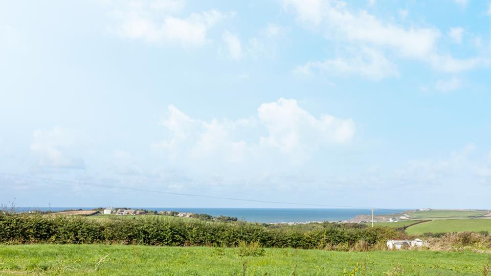 From The Old Smithy there is a sea view across to Widemouth Bay over fields and countryside, here you are close enough to the beach but just located in the hinterland for easy access.