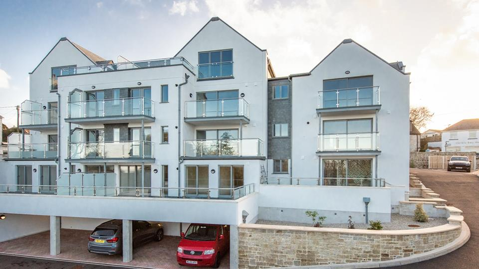 The development overlooks Carbis Bay and has a lovely sea view.