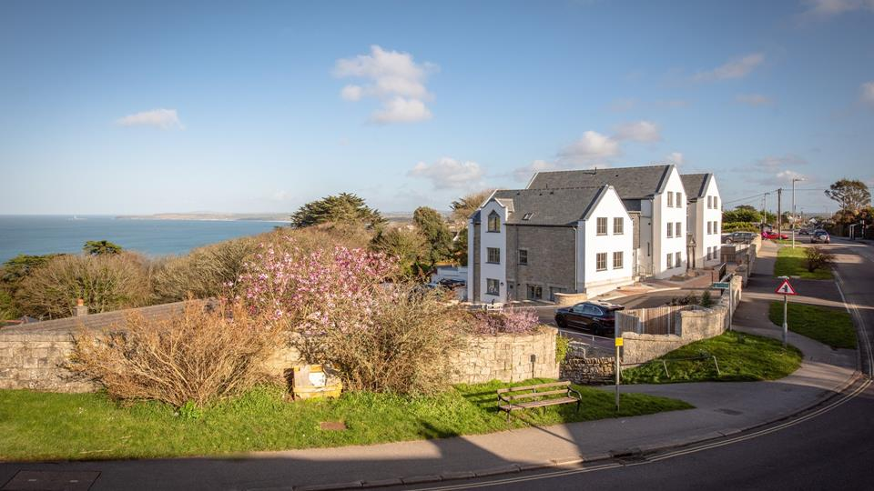 The views from the St Margaret's development are beautiful; miles of stunning coastline with established trees in the foreground.