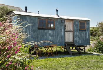 Complete with an old stable door entrance, this quirky shepherd hut for two is in the heart of Morvah's countryside. With private outside seating, you can enjoy breakfast or lunch alfresco.
