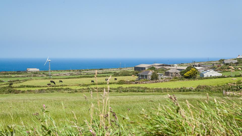 The Shepherd Hut has beautiful Cornish countryside and sea views.