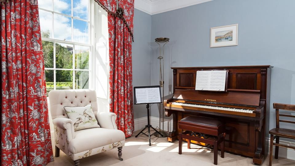 The music room is perfect for a family sing song.