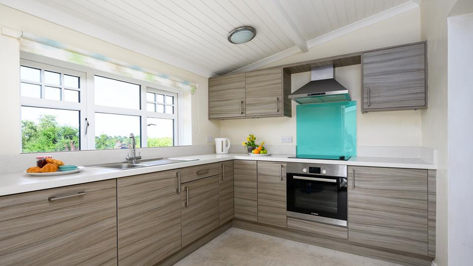 A sleek kitchen great for cooking up a Cornish treat.