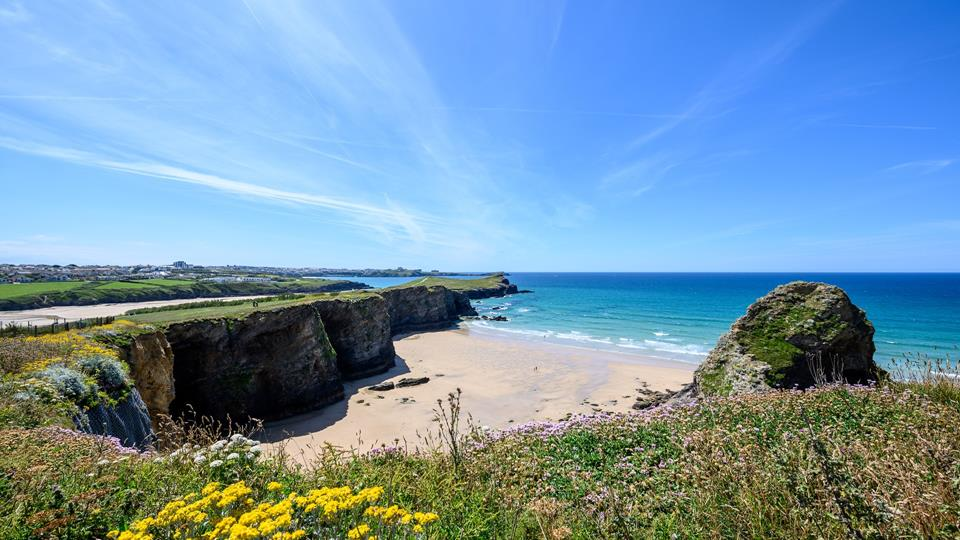 Whipsiderry and Porth beach are a short distance away.