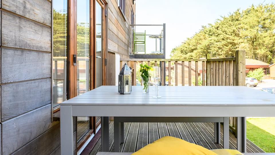 On summer evenings why not make the most of the decking area and have family meals al fresco?