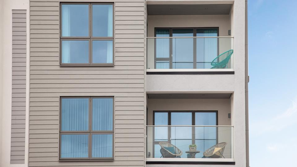 8 Saltwater is on the second floor of this newly developed apartment block, in Newquay's most affluent location.