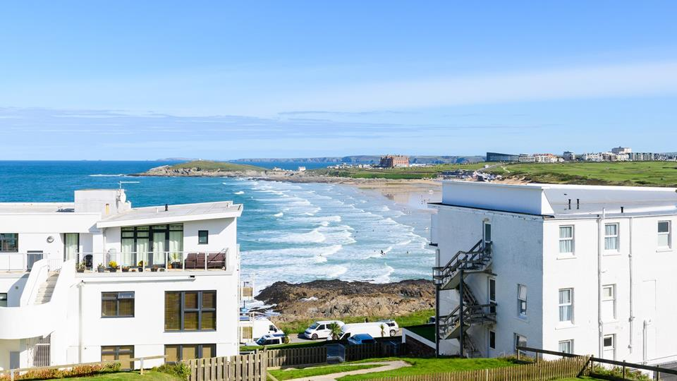 The spectacular views are one of the highlights of this stunning seaside apartment!